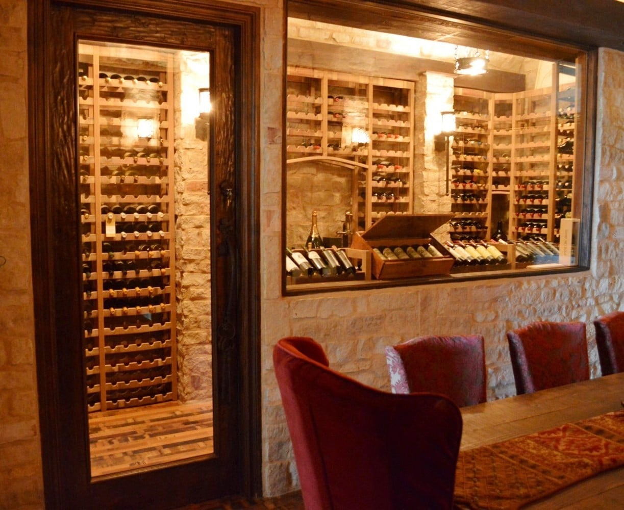 Exceptional and functional home wine cellar design by a for Wine cellar layout