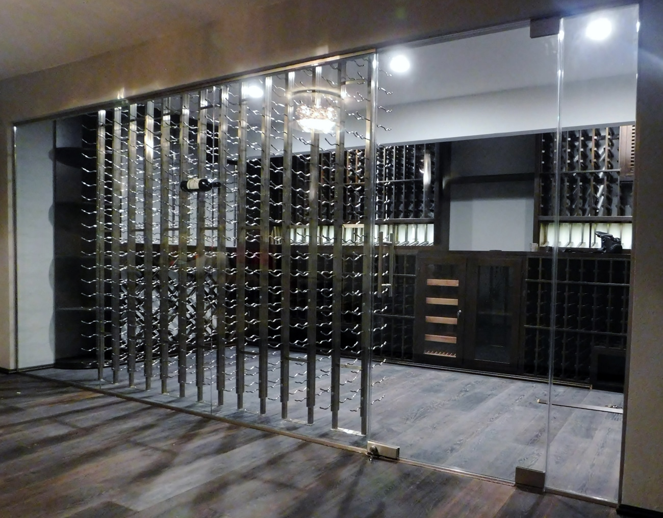 wine cellar lighting. Miami Builders Installed The Lighting In This Wine Cellar